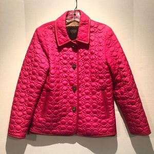 Coach Quilted Jacket with Leather Trim Size XS